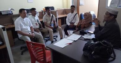 Saat berada di ruang Juru periksa Polda Sumatera Barat,Jum'at (28/9/2018)