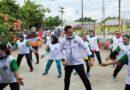 BM3 Sergai Gelar Senam Kesehatan, Wanita Muda Dan Tua Bergoyang