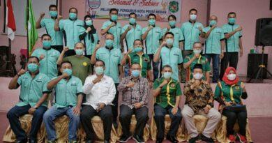 Akhyar Hadiri Pelantikan Pengurus PBVSI Kota Medan Periode 2020 – 2024