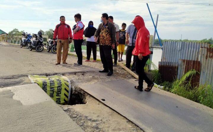 Bangunan Jembatan Titi II Secanang Belawan Terbengkalai