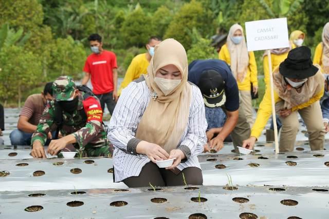 Bupati Pandeglang Irna Narulita : Desa Kadu Engang Siap Jadi Demplot Bawang Putih