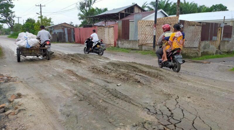 Jalan Propinsi Rusak Parah, Kasat Pol PP dan Kadis Perhubungan Sergai Diminta Cek Lapangan