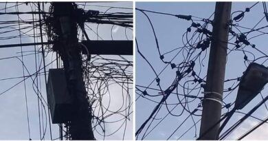 Kabel PLN dan Telkom Rusak Keindahan Kota Tanjung Tiram
