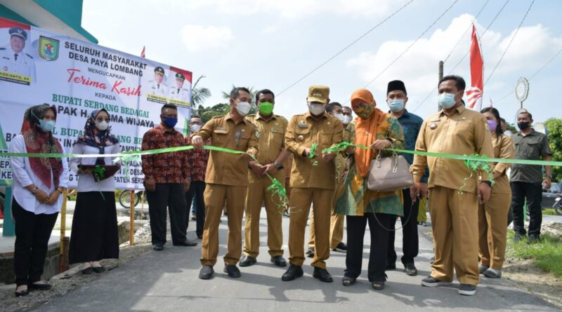 Masyarakat Desa Paya Lombang Apresiasi Pemkab Sergai atas Pembangunan Ruas Jalan
